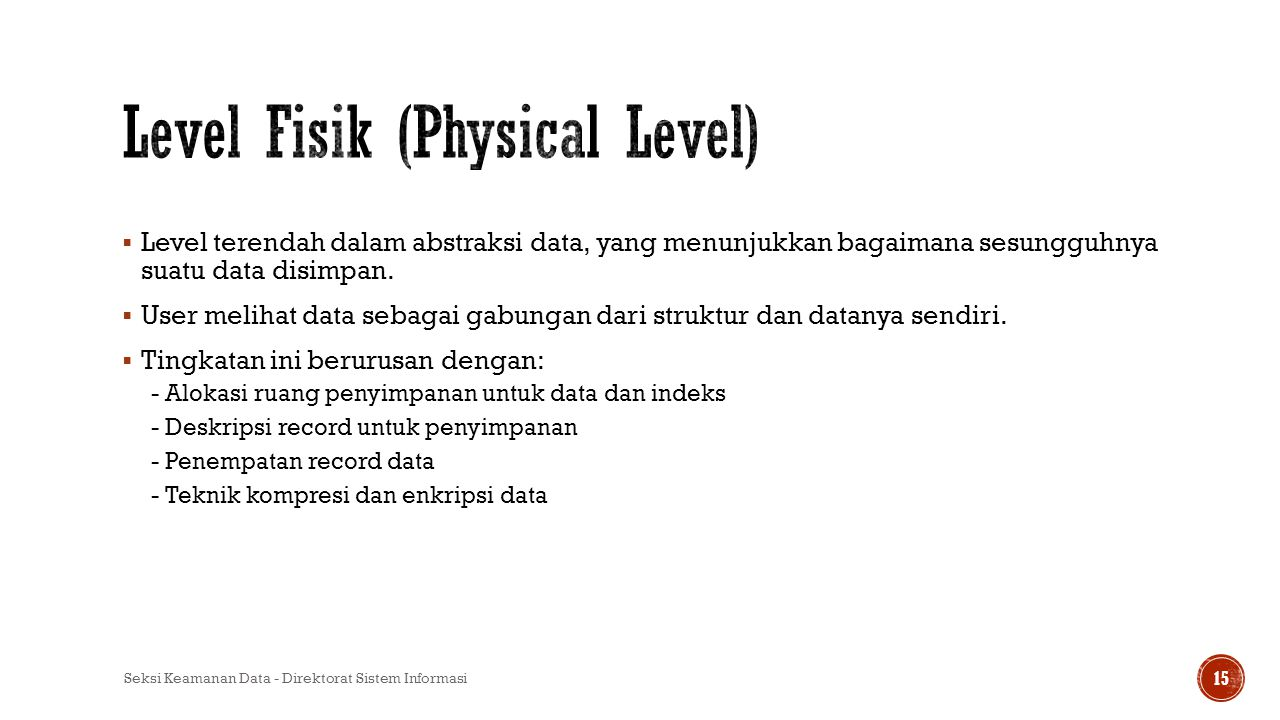 Level Fisik (Physical Level)