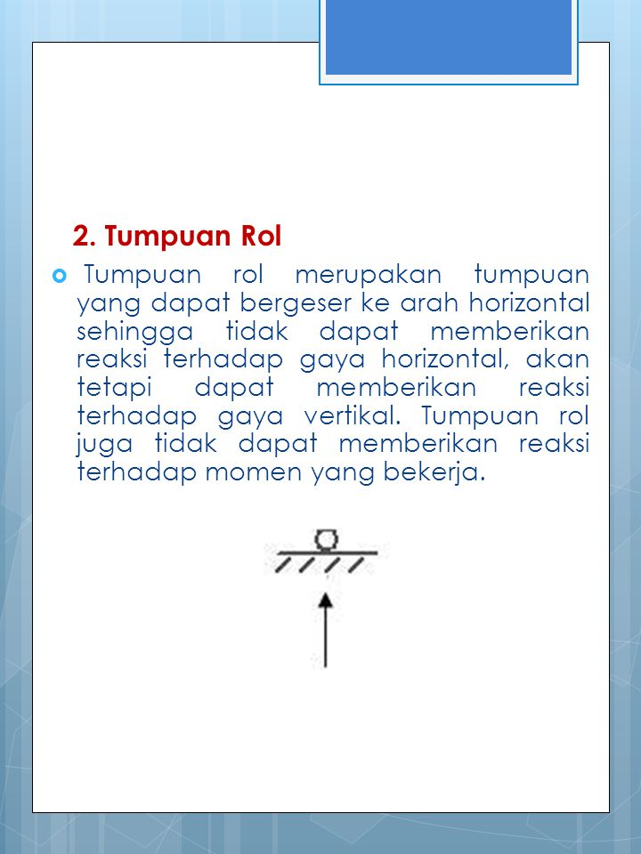2. Tumpuan Rol