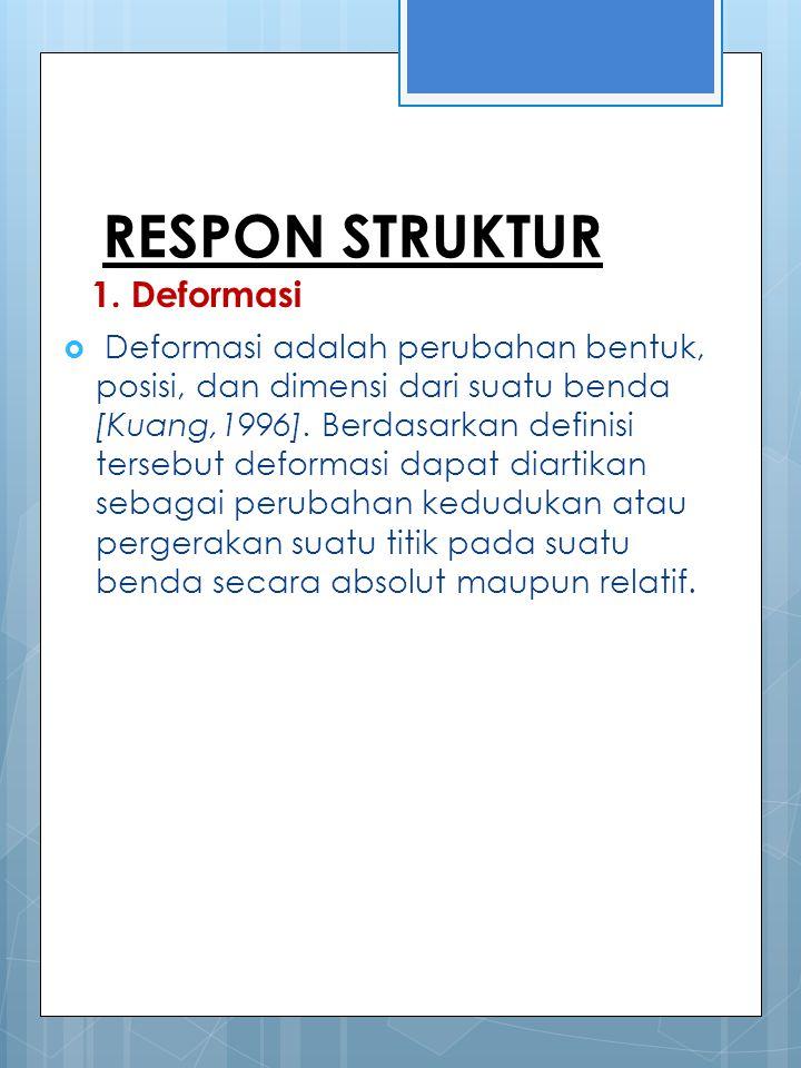 RESPON STRUKTUR 1. Deformasi