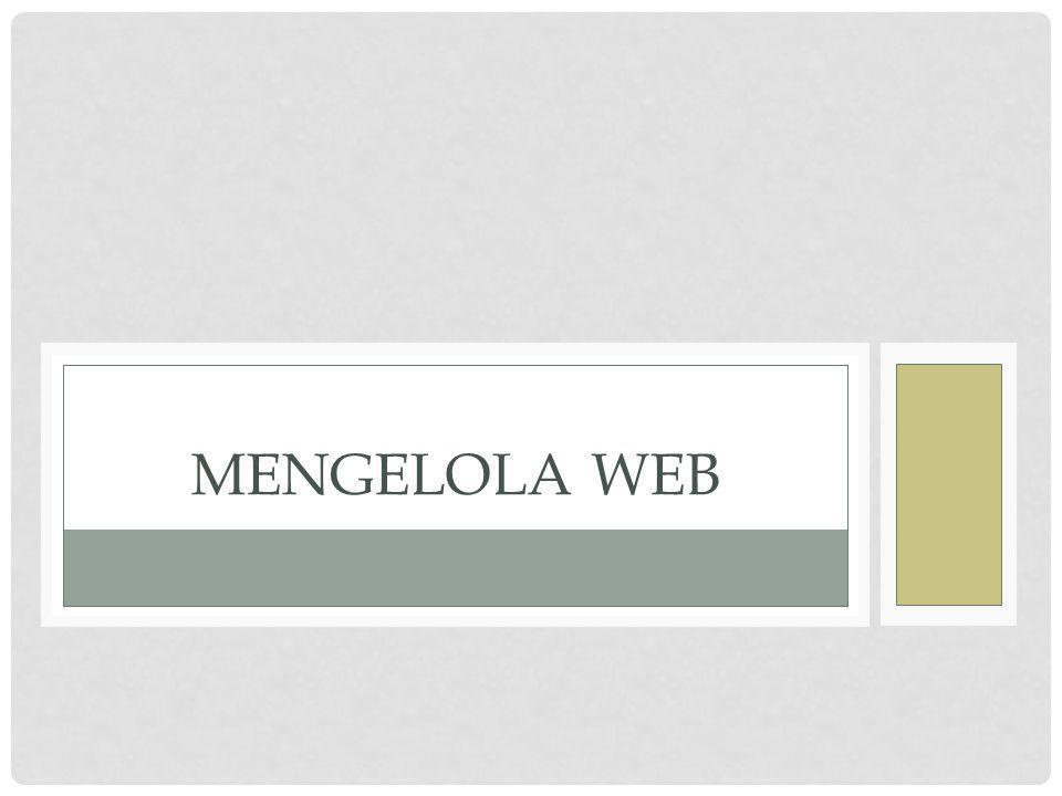 Mengelola Web