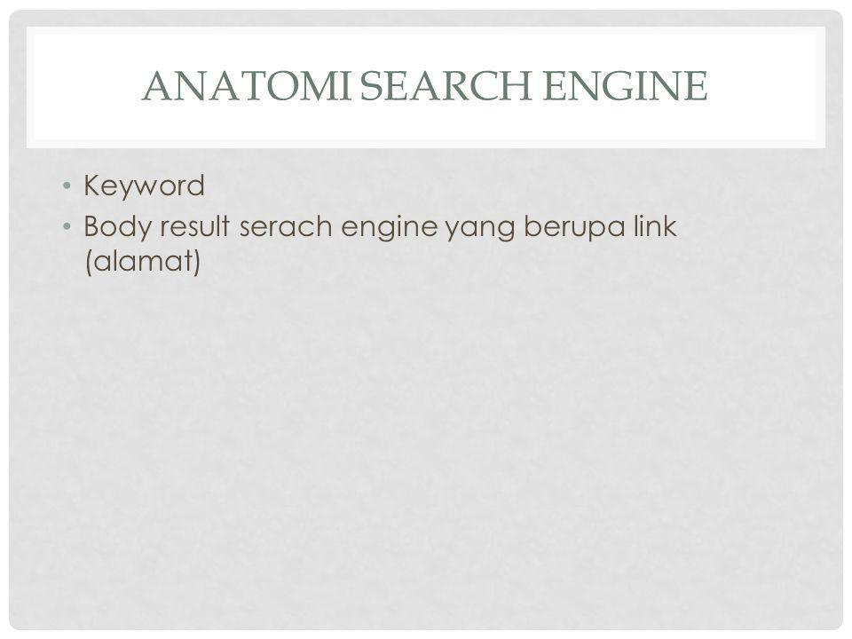 Anatomi Search Engine Keyword