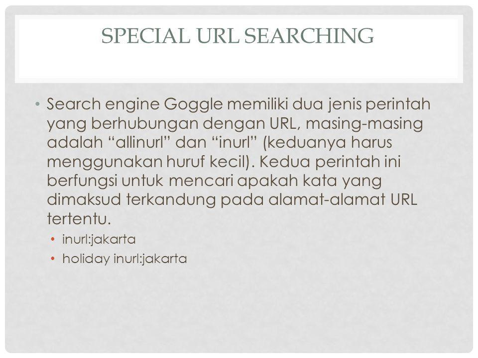 Special URL Searching