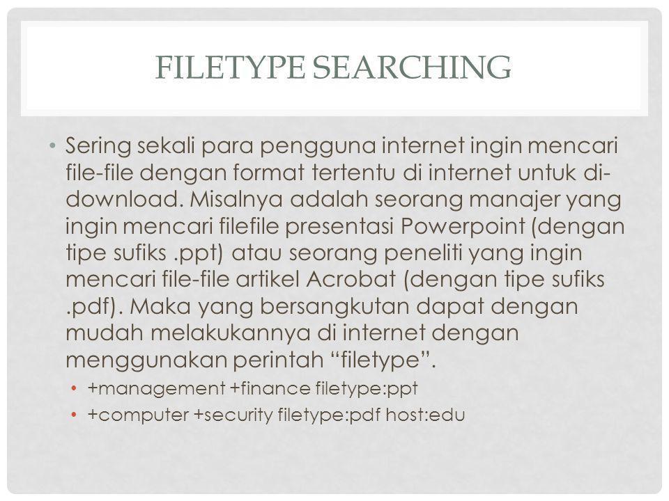 Filetype Searching