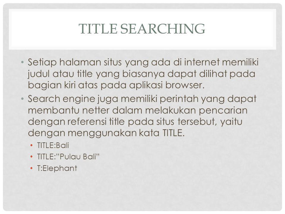 Title Searching