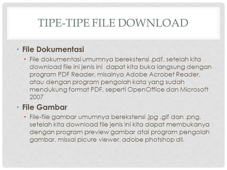 Tipe-tipe file download