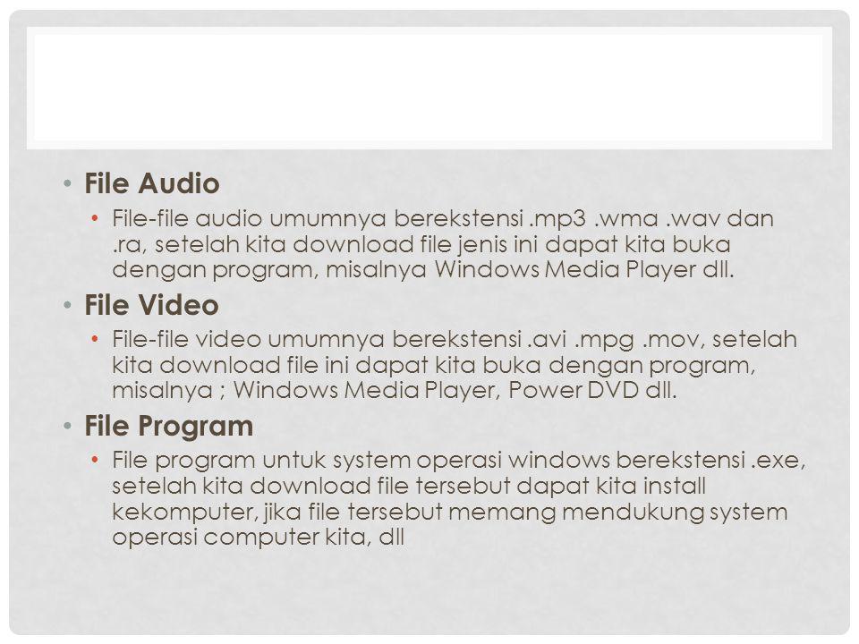 File Audio File Video File Program