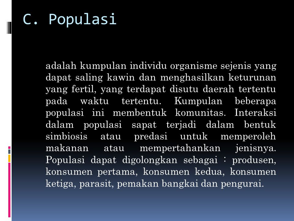 C. Populasi