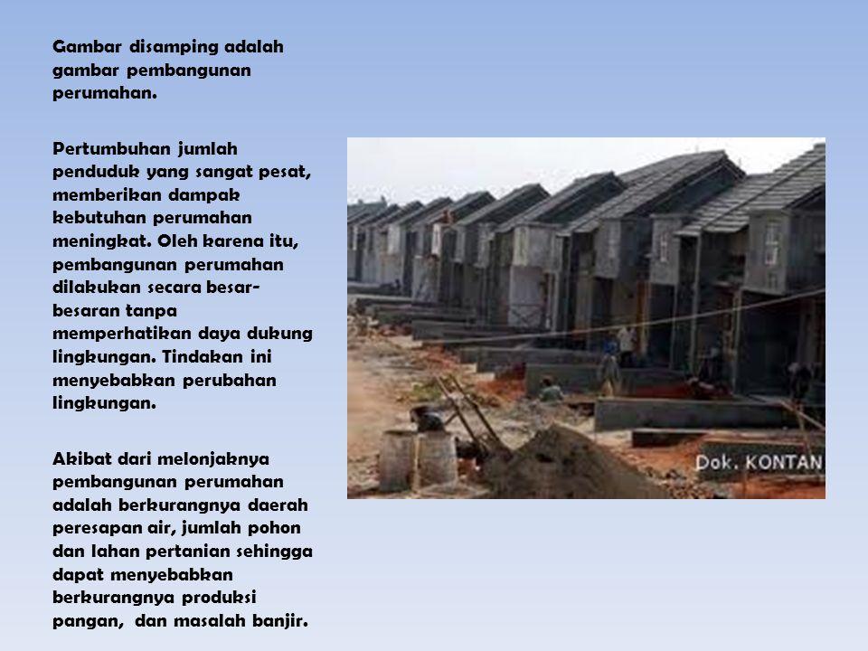 Gambar disamping adalah gambar pembangunan perumahan.