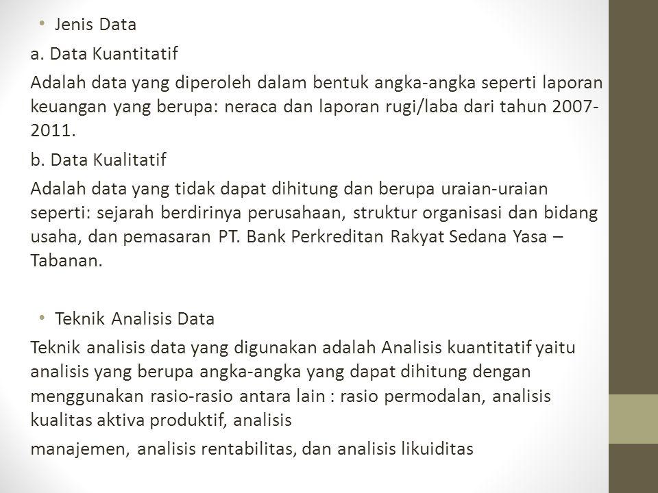 Jenis Data a. Data Kuantitatif.