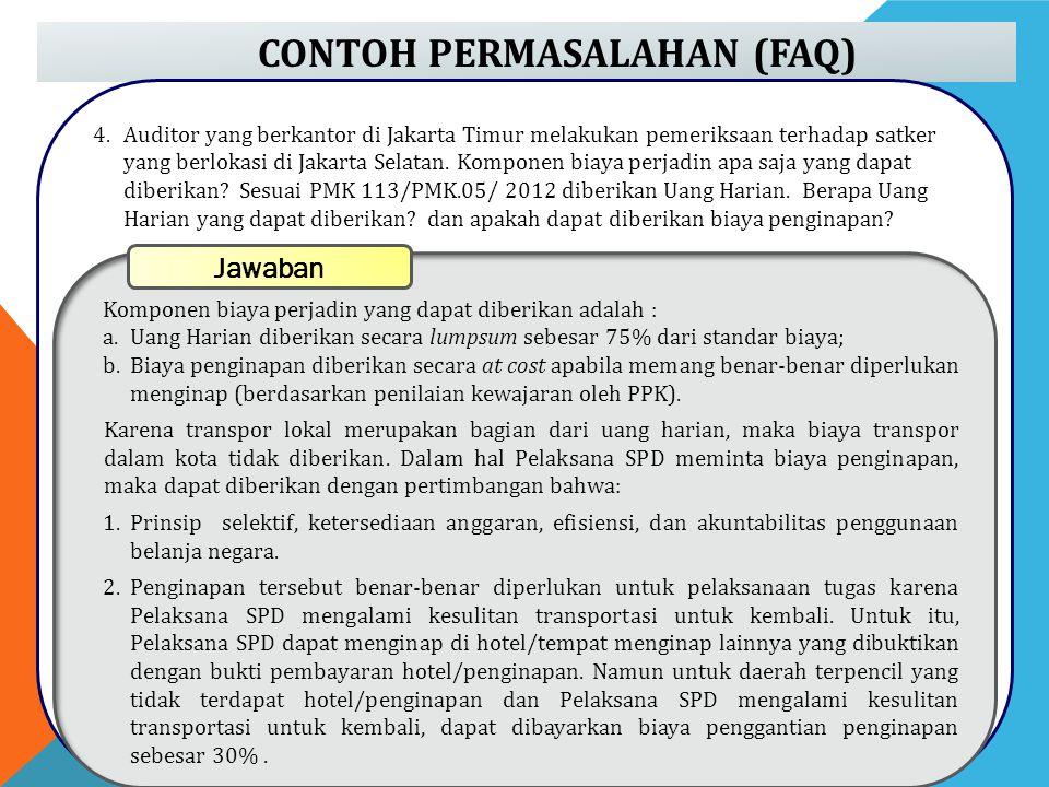CONTOH PERMASALAHAN (FAQ)