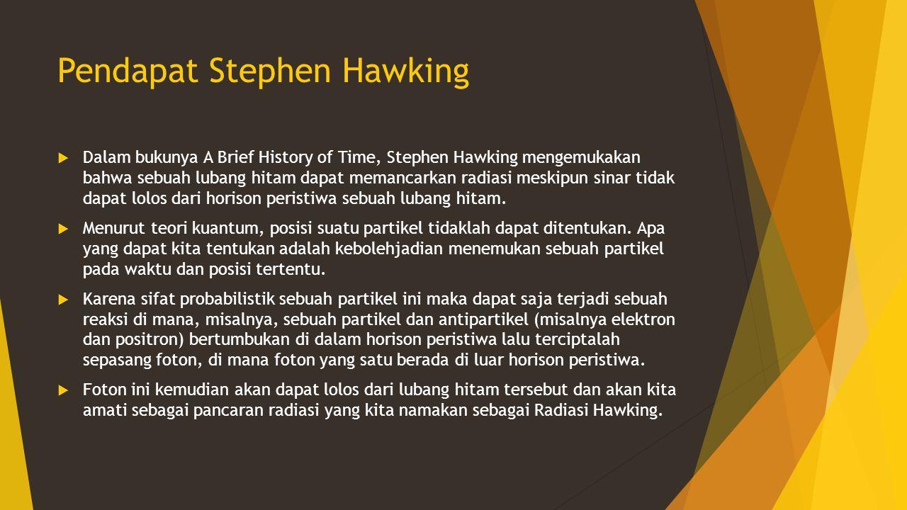 Pendapat Stephen Hawking