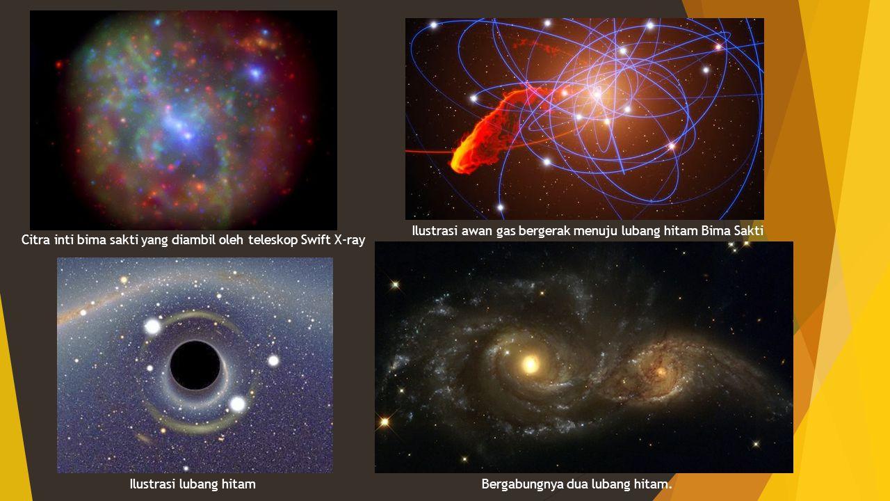 Ilustrasi awan gas bergerak menuju lubang hitam Bima Sakti