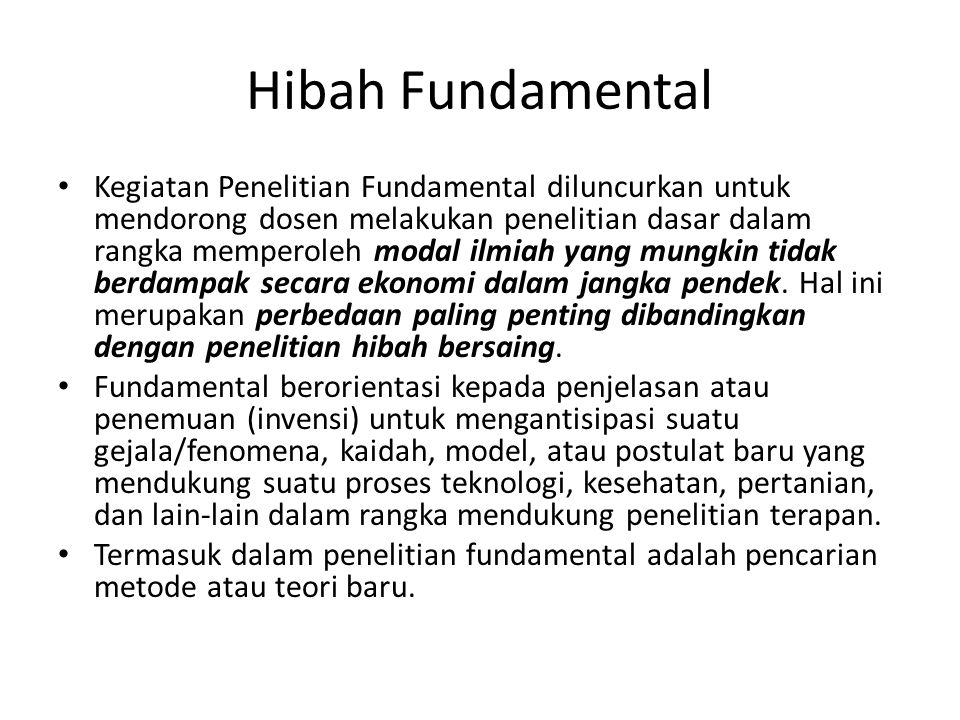 Hibah Fundamental