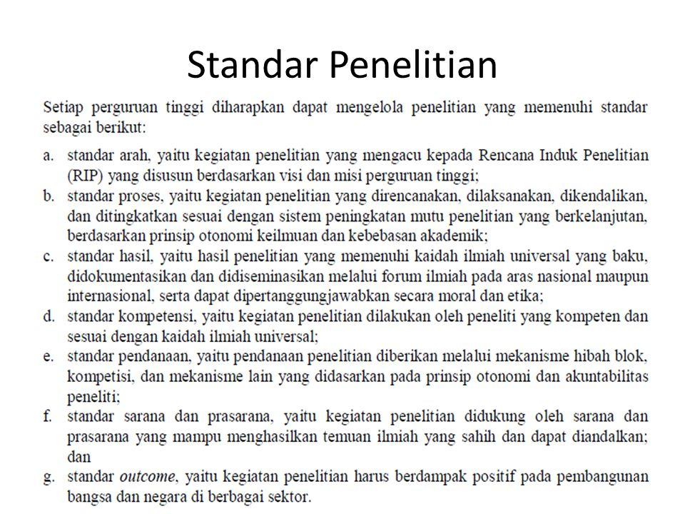 Standar Penelitian
