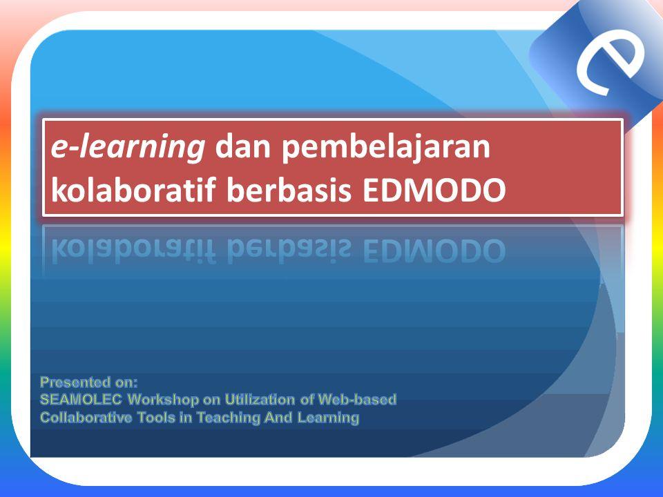 e-learning dan pembelajaran kolaboratif berbasis EDMODO