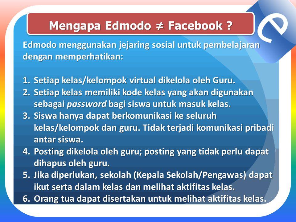 Mengapa Edmodo ≠ Facebook