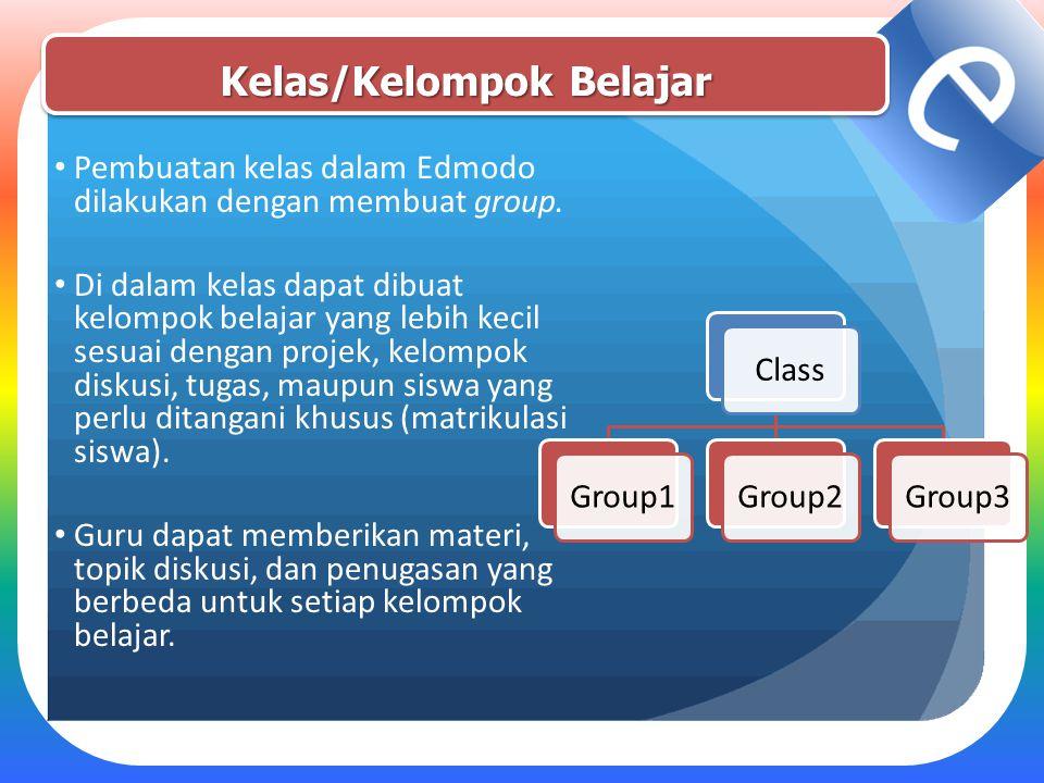 Kelas/Kelompok Belajar