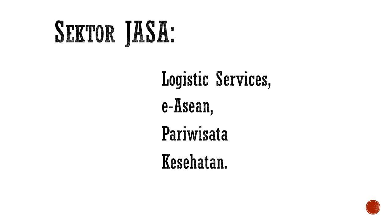 Sektor JASA: Logistic Services, e-Asean, Pariwisata Kesehatan.