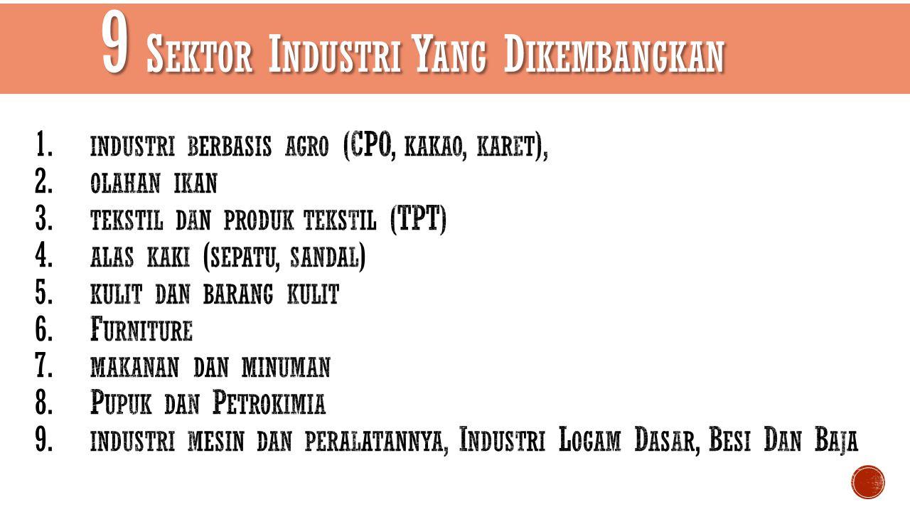 9 Sektor Industri Yang Dikembangkan