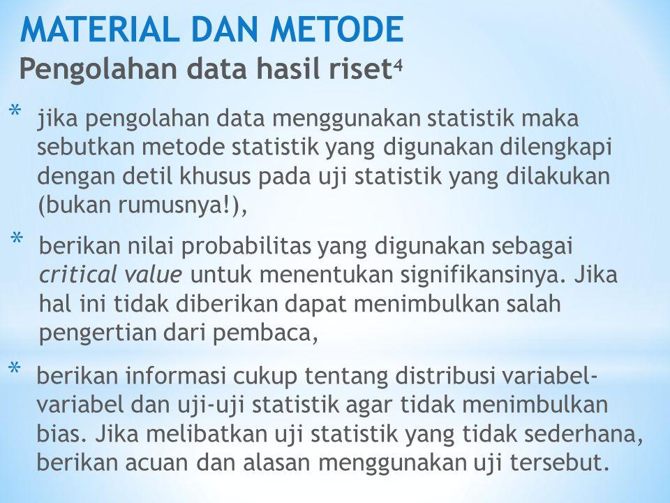 MATERIAL DAN METODE Pengolahan data hasil riset4