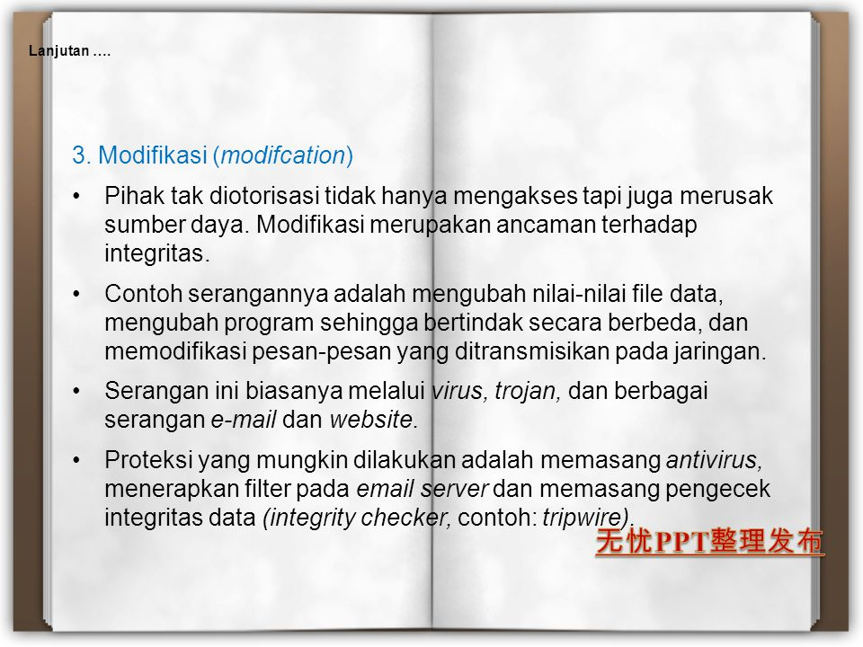 3. Modifikasi (modifcation)