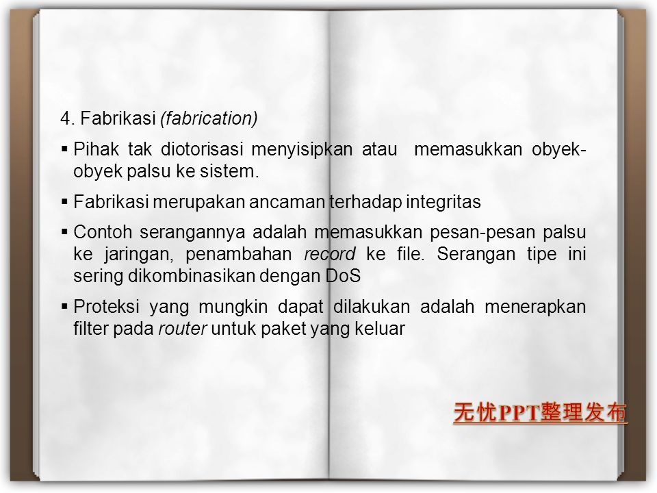 4. Fabrikasi (fabrication)