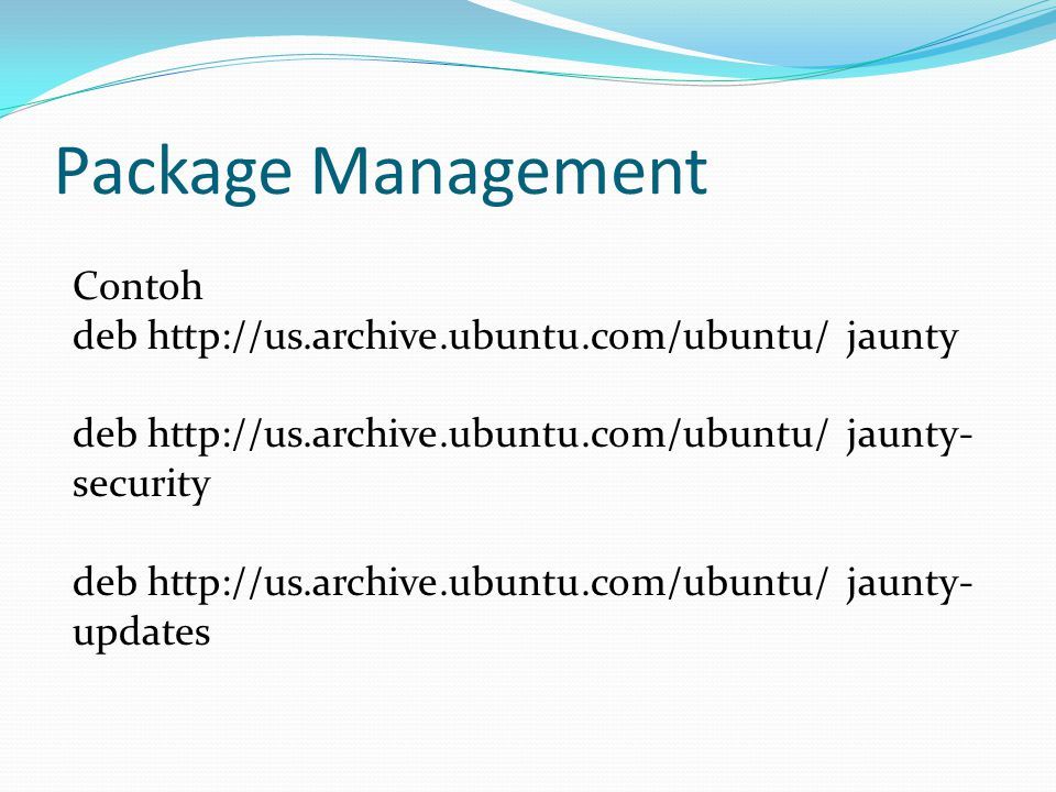 Package Management Contoh