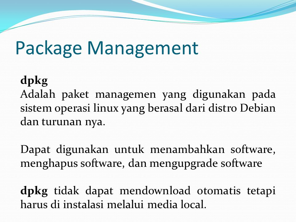 Package Management dpkg
