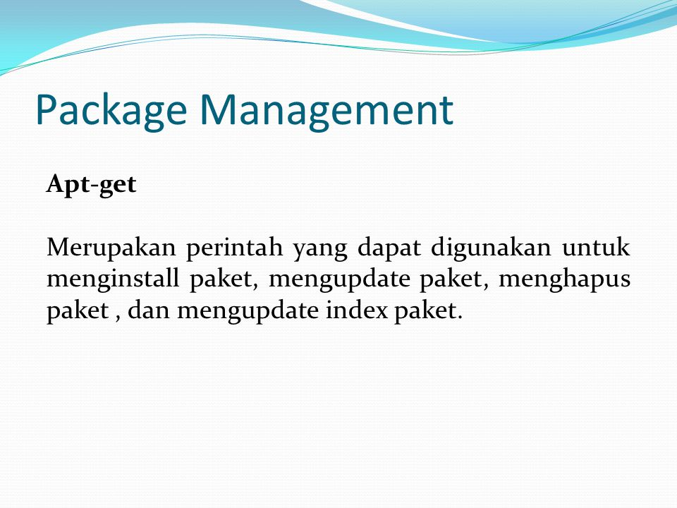 Package Management Apt-get