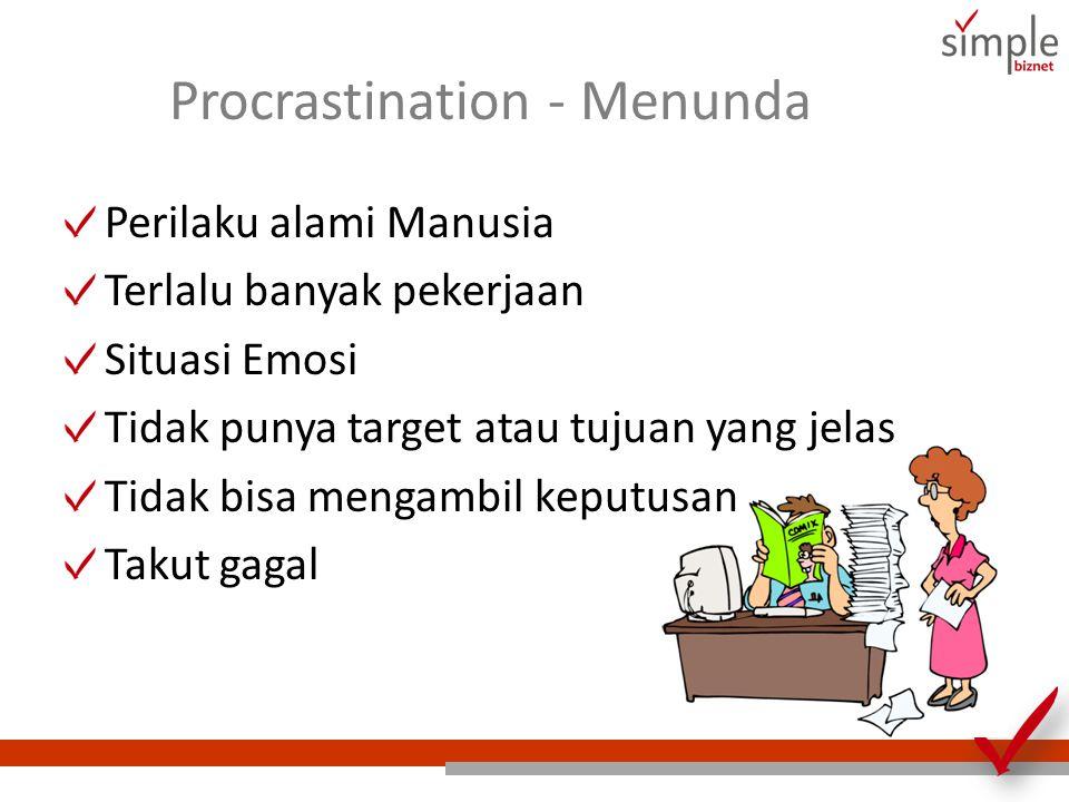 Procrastination - Menunda