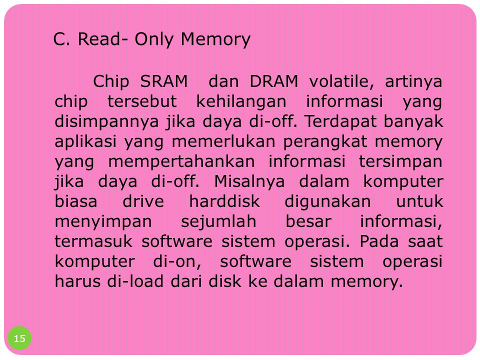 C. Read- Only Memory