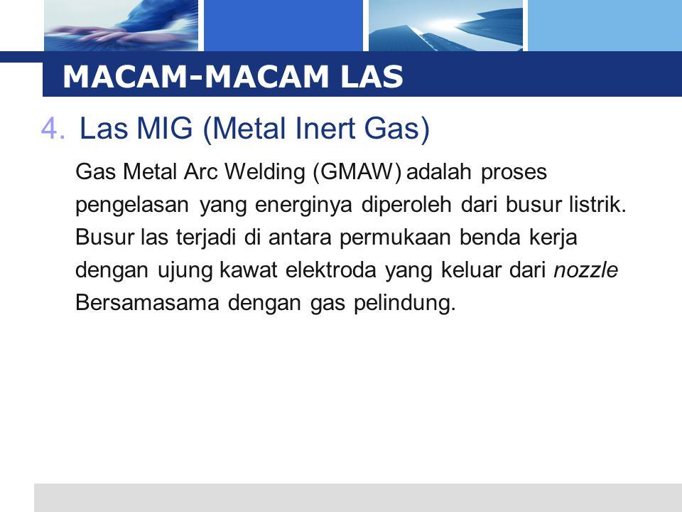Las MIG (Metal Inert Gas)