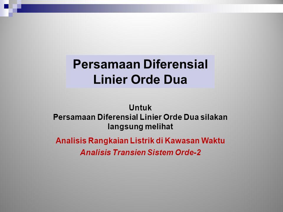 Persamaan Diferensial Linier Orde Dua