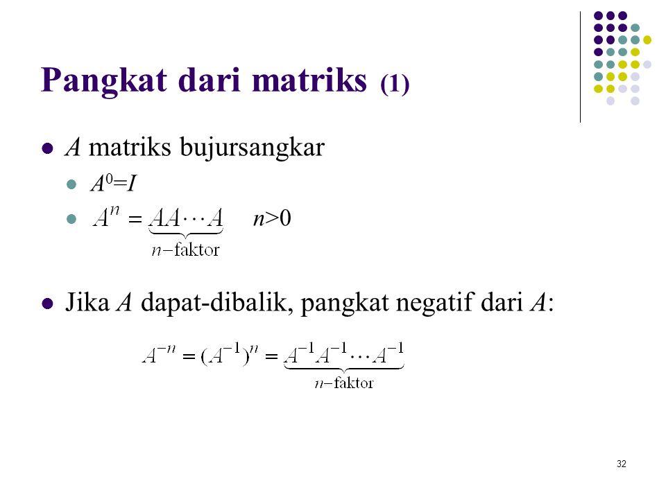 Pangkat dari matriks (1)