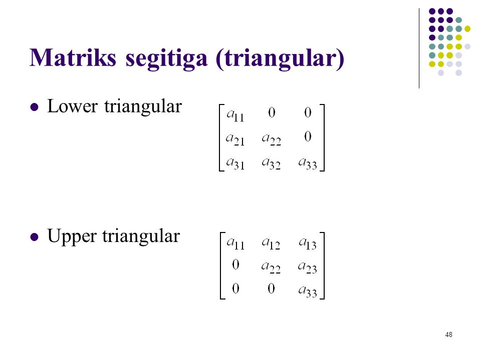 Matriks segitiga (triangular)