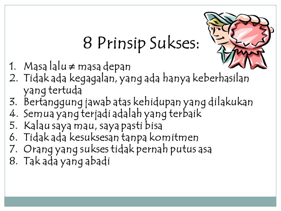 8 Prinsip Sukses: Masa lalu ≠ masa depan