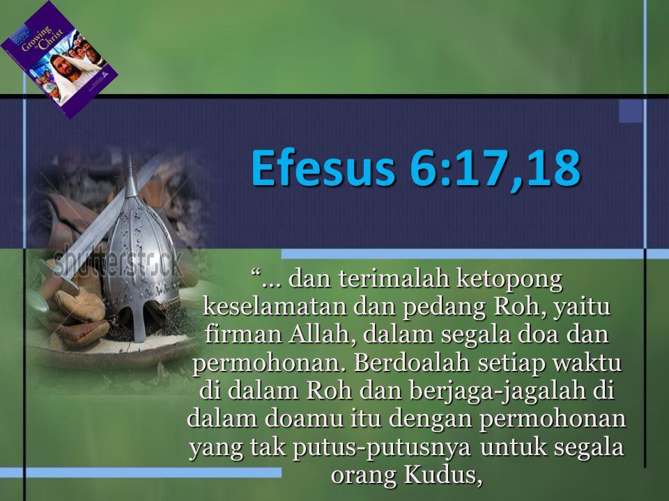 Efesus 6:17,18
