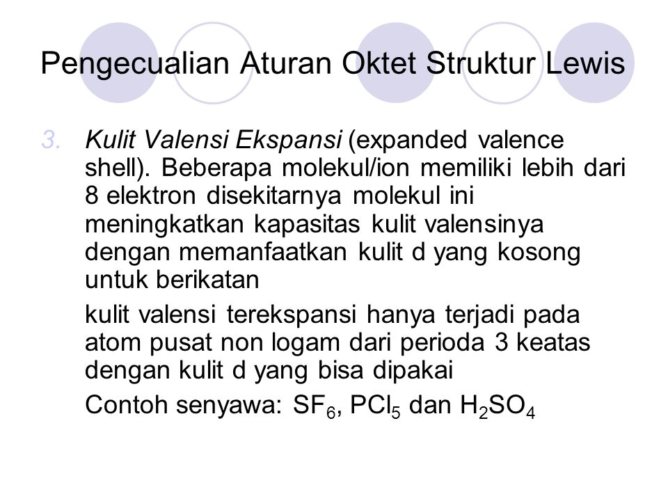 Pengecualian Aturan Oktet Struktur Lewis