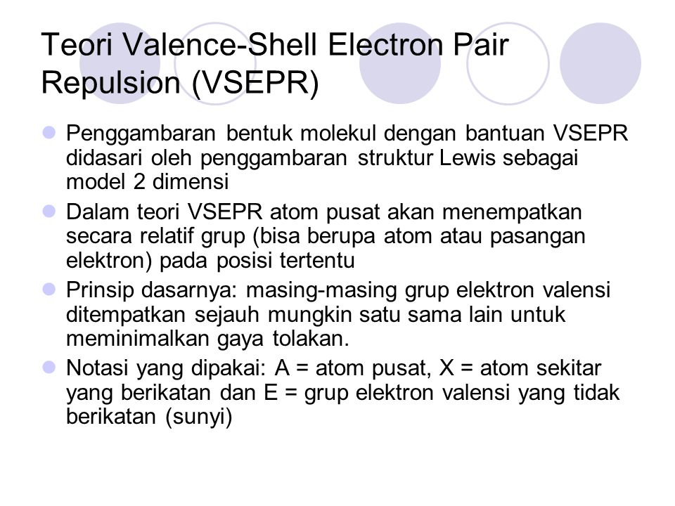 Teori Valence-Shell Electron Pair Repulsion (VSEPR)