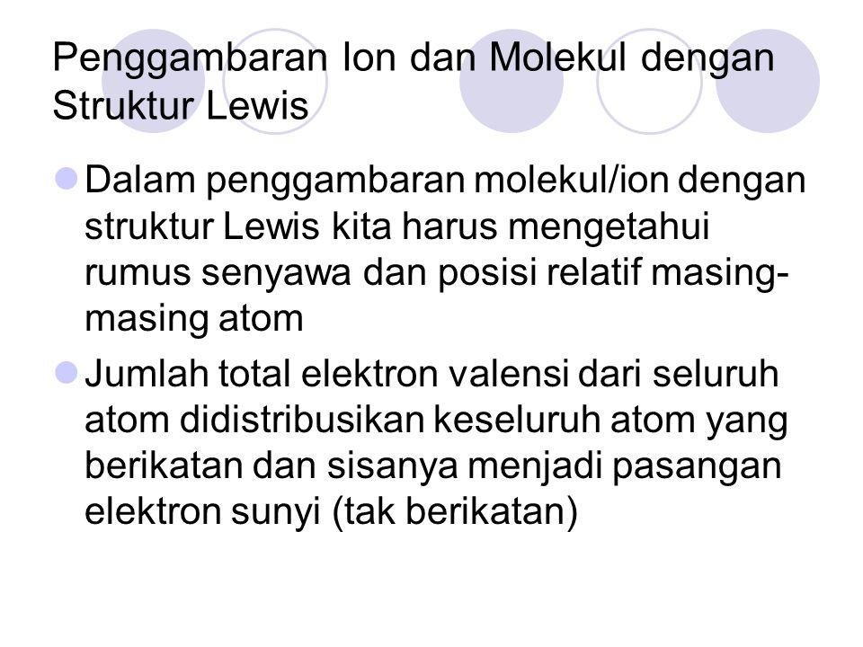 Penggambaran Ion dan Molekul dengan Struktur Lewis