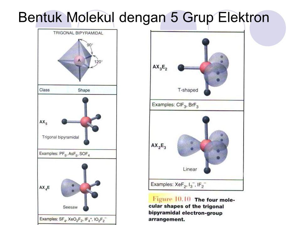 Bentuk Molekul dengan 5 Grup Elektron