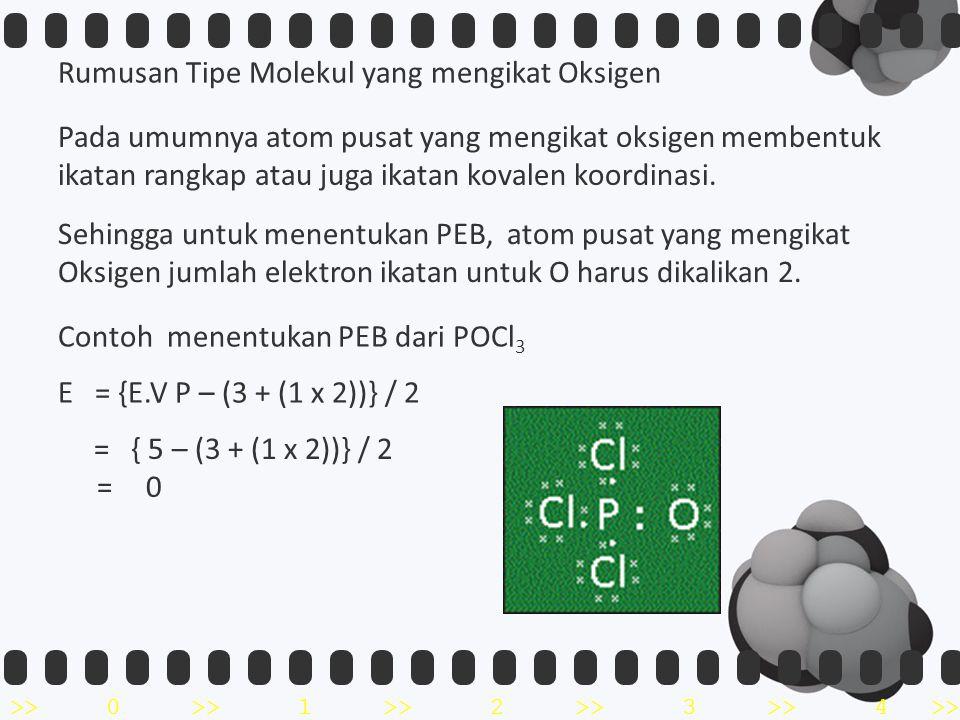 Rumusan Tipe Molekul yang mengikat Oksigen