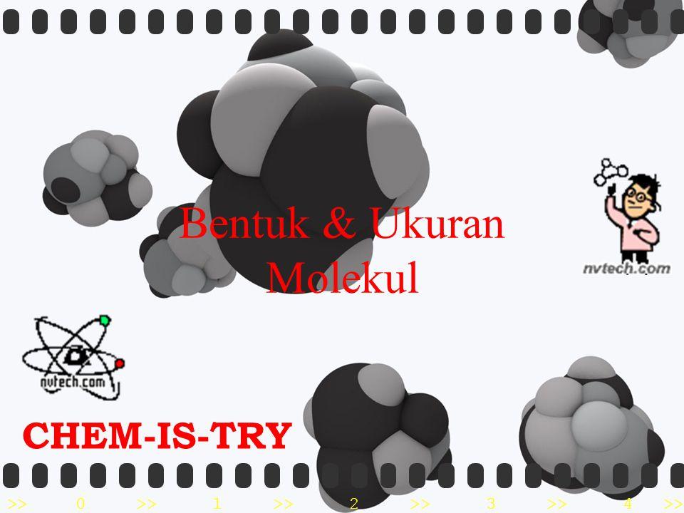 Bentuk & Ukuran Molekul