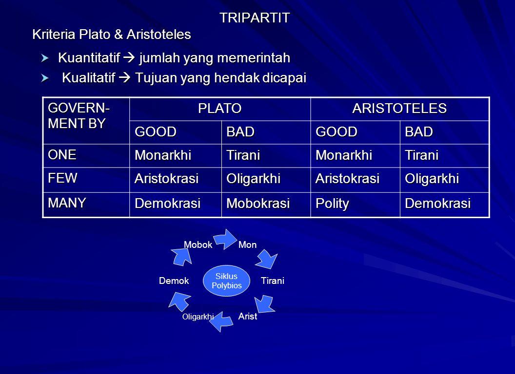 TRIPARTIT Kriteria Plato & Aristoteles