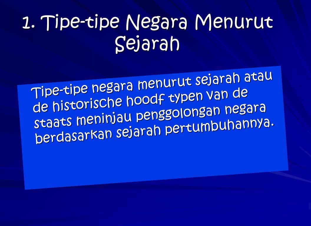 1. Tipe-tipe Negara Menurut Sejarah