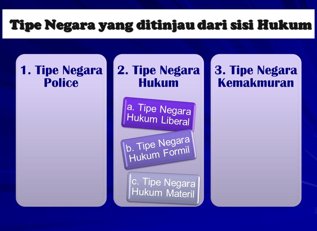 Tipe Negara yang ditinjau dari sisi Hukum