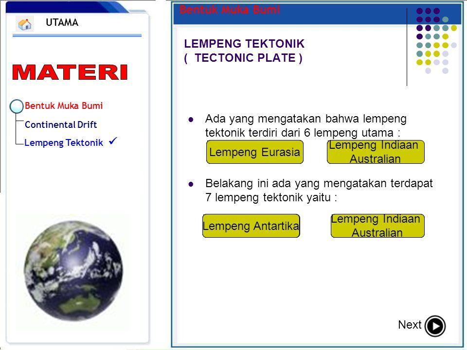 LEMPENG TEKTONIK ( TECTONIC PLATE )