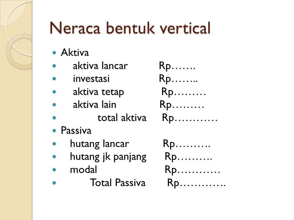 Neraca bentuk vertical
