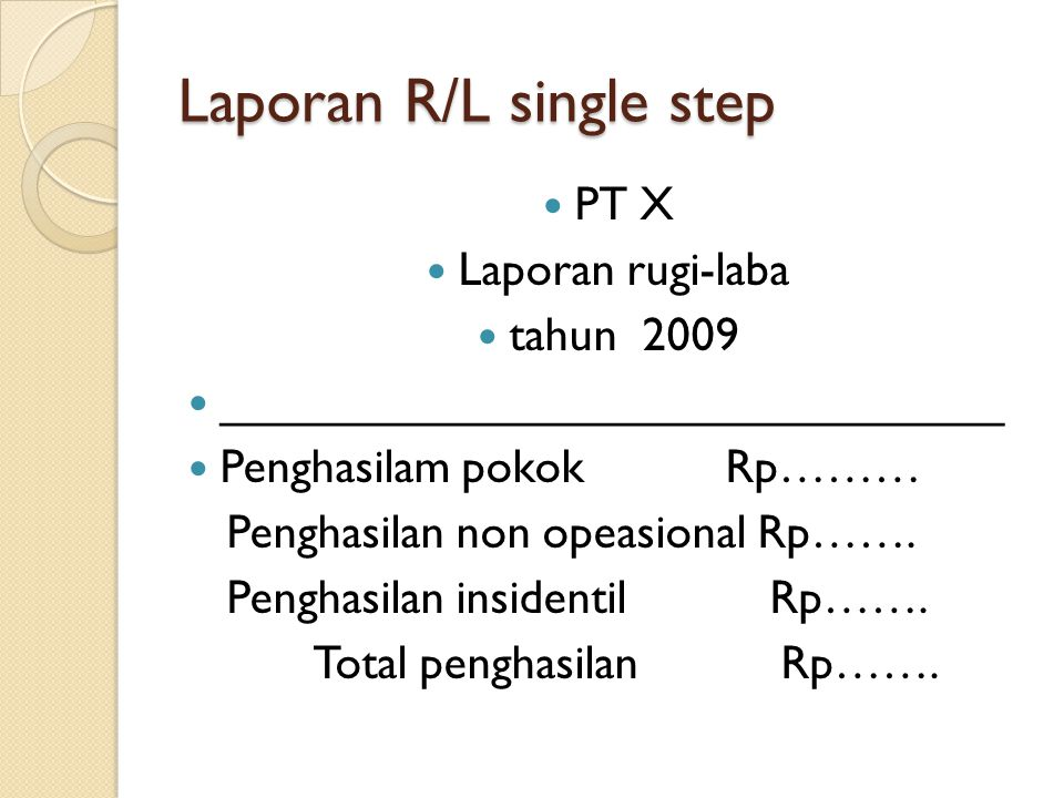 Laporan R/L single step