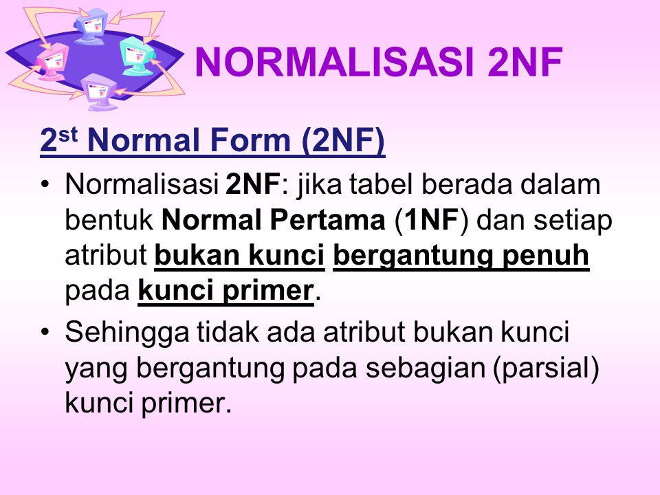 NORMALISASI 2NF 2st Normal Form (2NF)